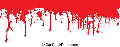 Blood splat header ideal for the top of a page
