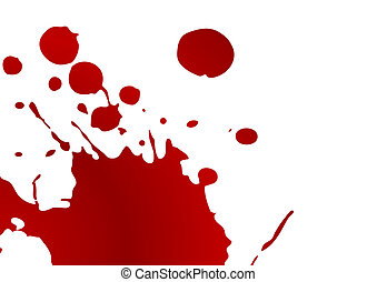 Editable vector blood splat on white background