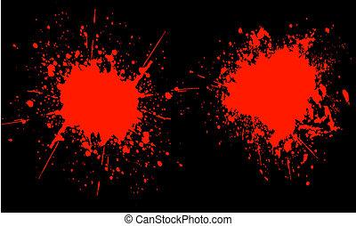Blood splats - Red splats on black