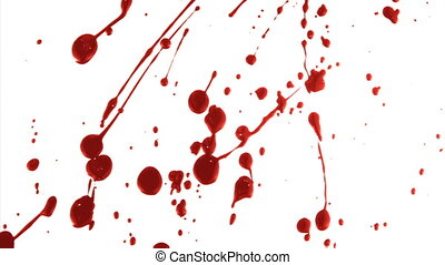 Blood Splatter 2 - Part of a series. Blood splatters across...