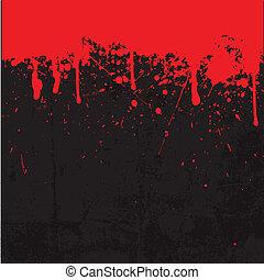 Blood splatter background - Grunge style Halloween...
