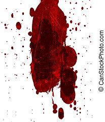 blood splatter - red blood splatter on a solid white...