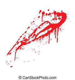 blood splatter ,vector illustration