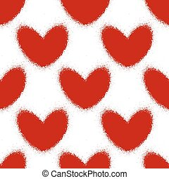 Blood splatters and hearts seamless pattern