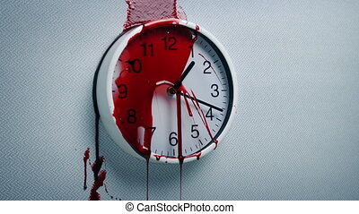 Blood Splatters On Clock