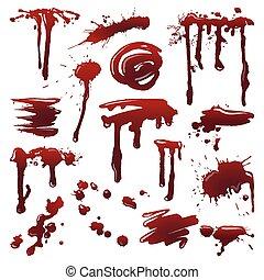 Blood splatters set
