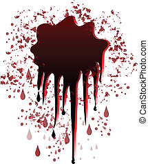 Blood spot splash vector logo