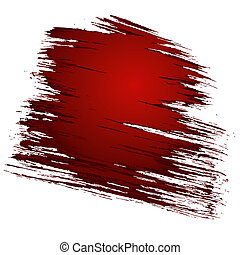 Abstract torn scratched red background. Vector illustration