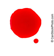 Blood stain on a white background