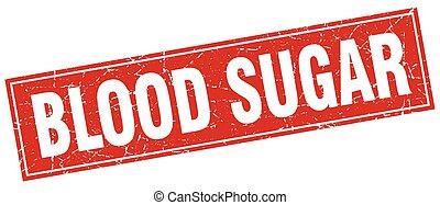 blood sugar square stamp