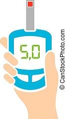 Blood sugar tester icon vector illustration