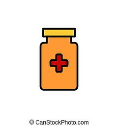 Blood test icon vector illustration isolated on white background
