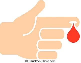Blood test medical icon