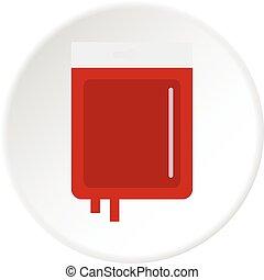 Blood transfusion icon circle - Blood transfusion icon in...