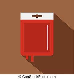 Blood transfusion icon, flat style - Blood transfusion icon....