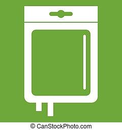 Blood transfusion icon green - Blood transfusion icon white...