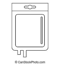 Blood transfusion icon, outline style - Blood transfusion...