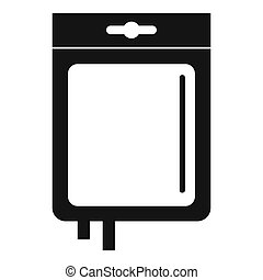 Blood transfusion icon, simple style - Blood transfusion...