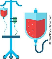 Blood transfusion vector illustration. - Blood transfusion...
