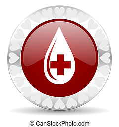 blood valentines day icon