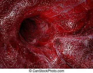 Blood vessel - 3D render illustration.