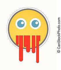 Blood Vomiting - Cartoon Smiley