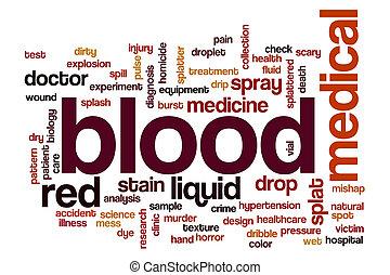 Blood word cloud concept