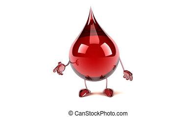 blooddrop, dessin animé, amusement, présentation, 3d