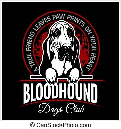 Bloodhound - vector illustration for t-shirt, logo and template badges