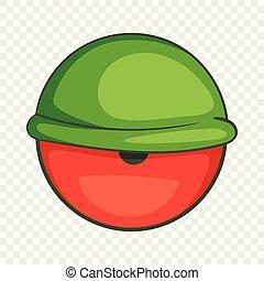 Bloodshot eyeball icon, cartoon style