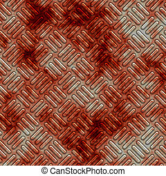 bloodstained plate - a large sheet of diamond or tread plate...