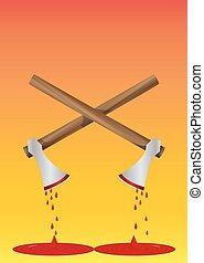 Bloody Axe, illustration