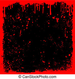 Bloody background - Detailed grunge background with drips...
