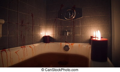 Bloody bathtub by candlelight - Wide Angle Front