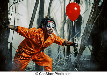 bloody clown monster