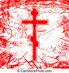 bloody cross illustration