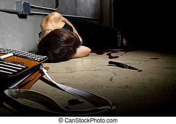 Bloody Female Murder Victim