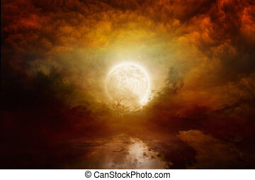Bloody full moon