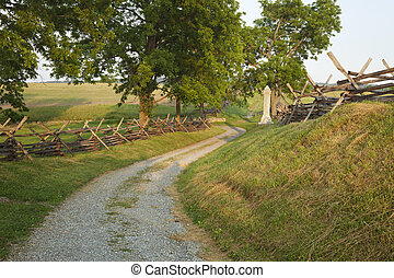 Bloody Lane at Antietam Battlefield near Sharpsburg, Maryland