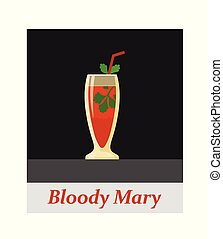 Bloody mary cocktail menu item or any kind of design. Party...