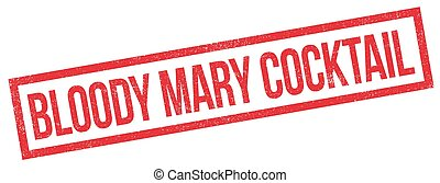 Bloody Mary Cocktail rubber stamp