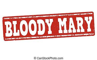Bloody Mary cocktail stamp - Bloody Mary cocktail grunge...