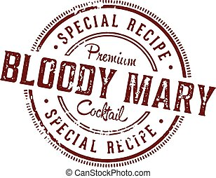 Bloody Mary Cocktail Stamp