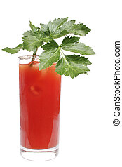 Bloody Mary Series - Bloody Mary cocktail in highball glass...