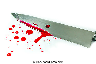 Bloody red and knife