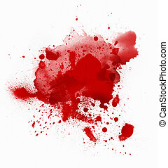 Bloody spot on white background