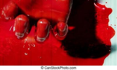 Bloody twitching hand Three