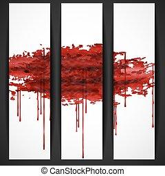 Bloody Watercolor Spots. Vector Illustration. Eps 10.