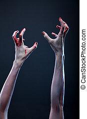 Bloody zombie hands  - Bloody zombie hands, Halloween theme