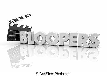 Bloopers Movie Film Clapper Board Mistakes 3d Render ...